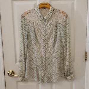BUY 1 GET 1 FREE. FREE PEOPLE BUTTON UP BLOUSE